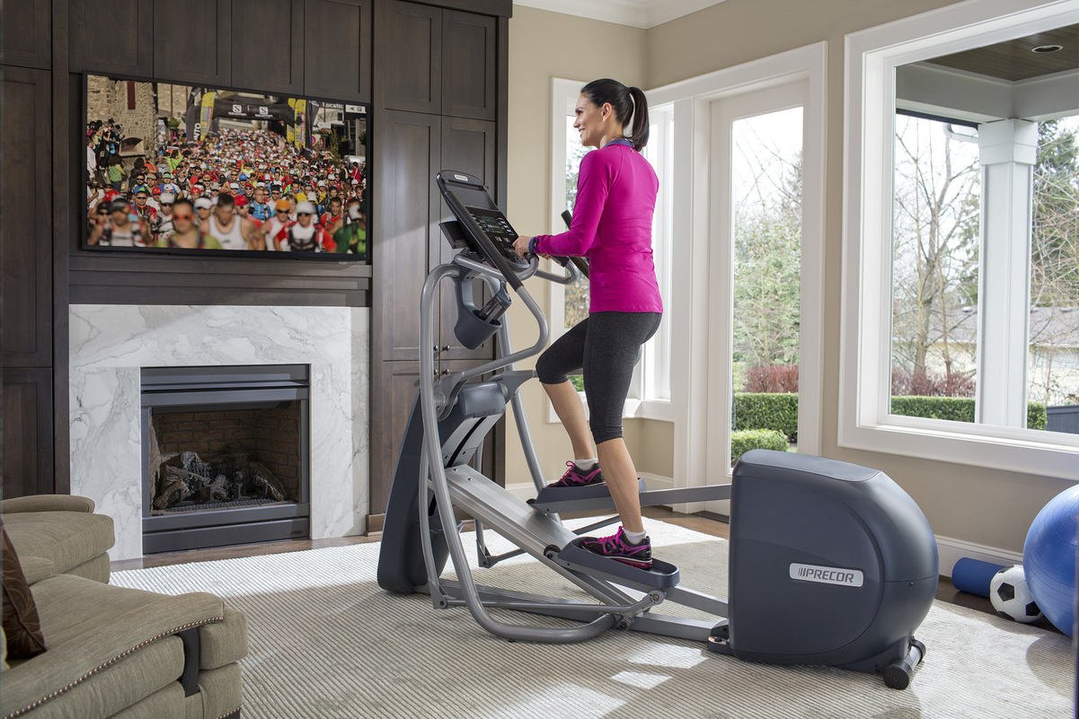 Precor elliptical fitness crosstrainers provide a low-impact workout with high-impact results. The best ellipticals for home.