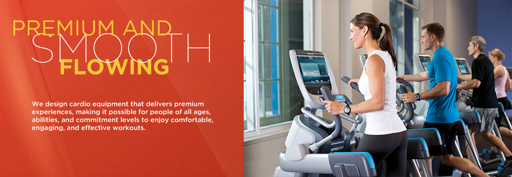 Precor is one of the world's largest commercial gym fitness equipment suppliers.  Our professional cardio machines are chosen by thousands of health clubs in over 90 countries.