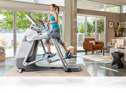 The AMT Adaptive Motion Trainer allows you to  go from short to long strides, walking to running, and climbing to lunging smoothly, easily, and spontaneously. An AMT for your home.