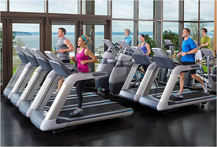 Precor's treadmills offer superior impact absorption while helping users maintain their natural stride. Our patented systems reduce jarring belt impact and combine ideal cushioning with vital stability.
